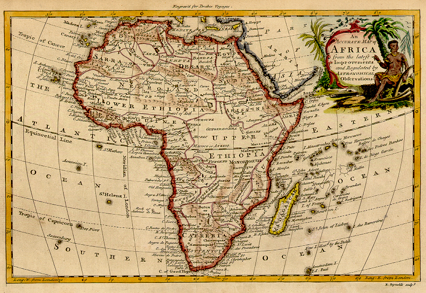 1771 map of Africa