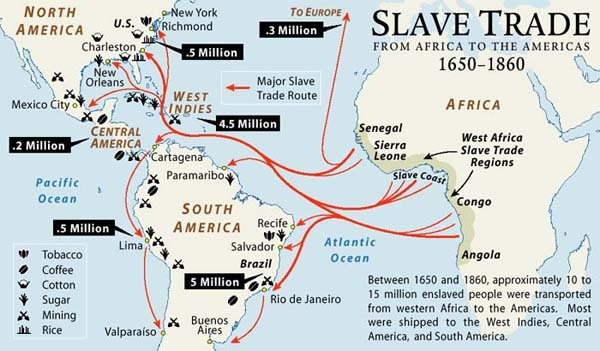 USHistoryBBlock Atlantic Slave Trade 18th Century - Wwii Us Map In The European Trader